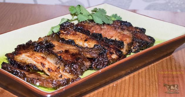 Gua Bao Burger Schweinefleisch