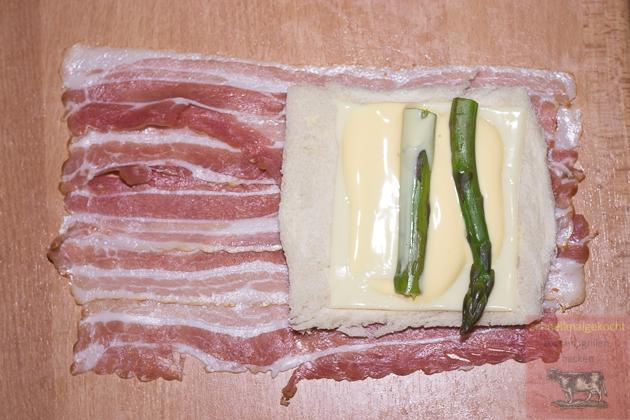 Bacon Spargel Röllchen
